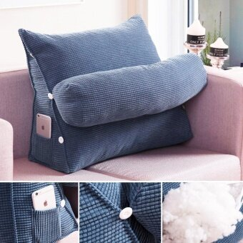 Adjustable Sofa Bed Chair Office Rest Neck Support Back Wedge Cushion Pillow #Purple - intl