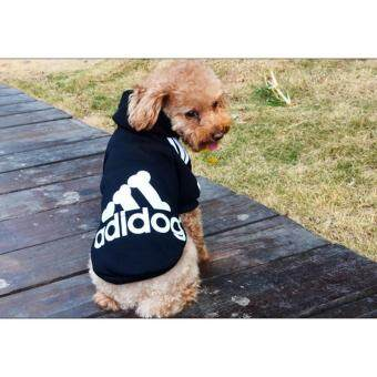 Ai Home Pet Dog Clothing Hoodie Coat Clothes M (Black)