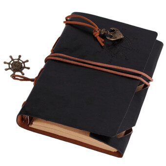 Ai Home Vintage Blank Pages String Notebook Journal Diary Black