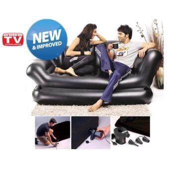รีวิวพันทิป Air-Lounge Sofa Bed โซฟาเป่าลม เอนกประสงค์ สีดำ