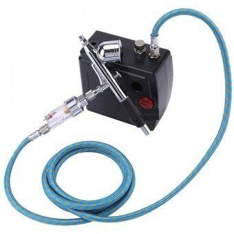 Airbrush Compressor Kits Dual-Action Top Feed Air Brush Set Pneumatic Nail Art Paintin (US Plug) - intl