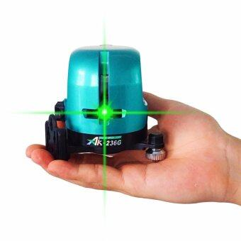 AK-236G Outdoor Bright Green Laser Level 360 Rotary Self Leveling1V1H Horizontal And Vertical Cross Laser Line - intl