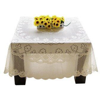 Amart สวยงามการตกแต่งลูกไม้ผ้าปูโต๊ะโต๊ะ 60ซม X 60ซม