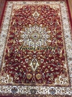 ANNAS Carpet พรม Rugs TY10 -Viscose+PP 115x160 cm (สีแดง)
