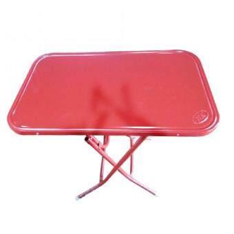 Asia โต๊ะพับหน้าเหล็ก 4 ฟุต (สีแดง)