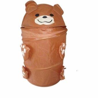 Ava Butic ตะกร้าผ้า ตะกร้าใส่ผ้า พับได้ รูปหมี
