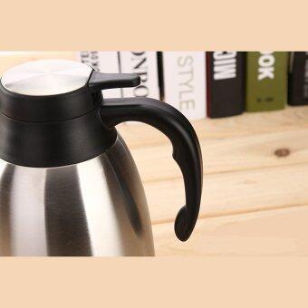 BEST Stainless Steel Insulated Vacuum Hot Cold Water Bottle FlaskContainer หม้อต้มกาแฟ แบบสแตนเลส ขนาด - 4