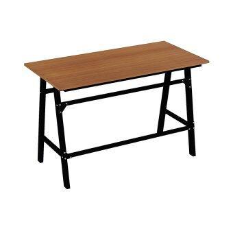 โปรโมชั่นพิเศษ Besta โต๊ะทำงานขาเหล็ก รุ่นเลดี้ WT-0010 ขาเหล็กดำ (สีเชอรี่)