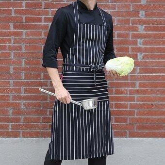 Black and White Apron Butchers Catering Cooking Professional Chef Aprons - intl