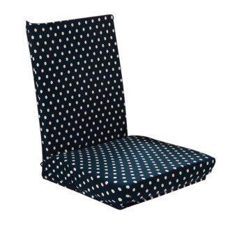 เปรียบเทียบราคา Black Stretch Short Removable Dining Room Stool Chair CoverSlipcover - Dots