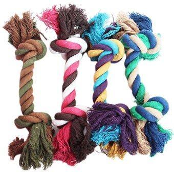 Bluelans®แฟชั่นสัตว์เลี้ยงลูกสุนัขสุนัขแทะกระดูกของเล่นผ้าฝ้ายถักเชือกเงื่อน