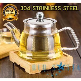 กาน้ำชา กาชงชา Blusasta กาแก้ว กาสแตนเลส 400ml (sus304)(ไม่มีรส).