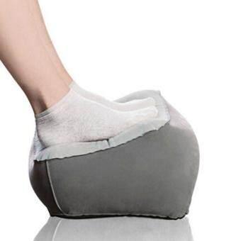 boyun Inflatable Foot Rest Pillow Cushion Travel Ottomans Leg UpFor Office Home Relax(Gray)