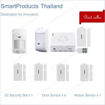 Broadlink Perfect Security Set - S2 Kit + 4 Door Sensors + 1 Motion Sensor