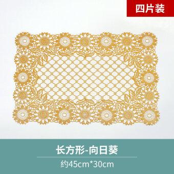 พีวีซีคอนติเนนฉนวนกันความร้อนแผ่น bronzing placemat