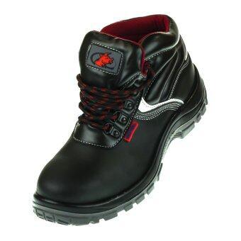BUZZYBULL MPH25 รองเท้าเซฟตี้ หุ้มข้อสูง หนังแท้ผิวเรียบพื้นพียูกันน้ำมัน