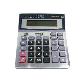 รีวิวพันทิป calculator Dm-1200V 12 digits Jumbo เครื่องคิดเลข 2พลังงานแสงและแบตเตอรี่