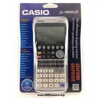 เปรียบเทียบราคา Casio Graphing เครื่องคิดเลขวิทยาศาสตร์แสดงผลแบบกราฟฟิก Casio รุ่นFX 9860GII