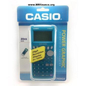 อยากขาย Casio graphing เครื่องคิดเลขวิทยาศาสตร์แสดงผลแบบกราฟิก รุ่น FX7400GII - blue