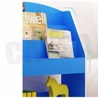 CASSA ชั้นวางหนังสือ ชั้นวางอเนกประสงค์ แบบตั้งพื้น สีฟ้า รุ่นF10-a109-BW ลาซาด้า