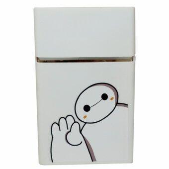 CBox กล่องใส่บุหรี่ สกรีนลายการ์ตูนน่ารัก (สีขาว)