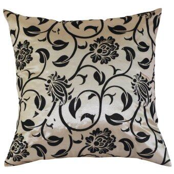 "Chameleon Flock Velvet Print Silk Decorative Cushion Cover PillowCase 43 cm 17"" Light Coffee HPX"