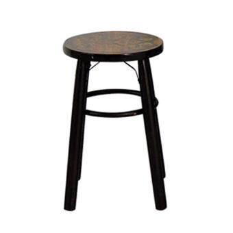 Chanathai เก้าอี้ไม้โบราณ ดามเหล็ก สูง 18 นิ้ว