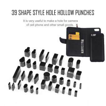 CHEER 39 Shape Hole Hollow Cutter Punch Metal Leather Craft DIY Tool Phone Holster - intl