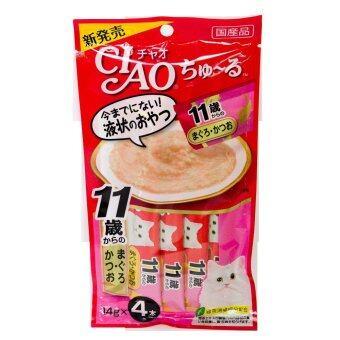รีวิว CIAO Churu ขนมแมวเลีย รสปลาทูน่าผสมคอลลาเจน 14g. x 4pcs