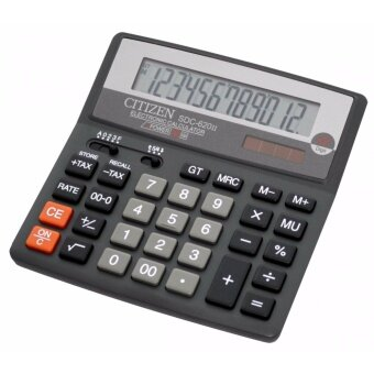รีวิว Citizen เครื่องคิดเลข รุ่น SDC-620II สีดำ แสดงหน้าจอ 12 หลัก