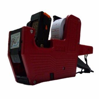 CKL เครื่องตีราคา 8 หลัก สีแดง + สติกเกอร์ตีราคาขอบแดง 1 ม้วน