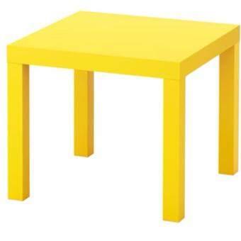 โต๊ะข้าง โต๊ะรับแขก วางข้างโซฟา วางข้างเตียงนอน สีเหลือง ขนาด55x55x45ซม.CK