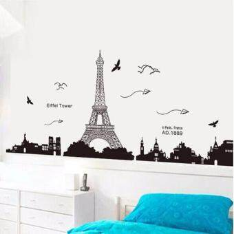CocolMax Paris Eiffel Tower Removable Decor Environmentally MuralWall Stickers Decal - intl