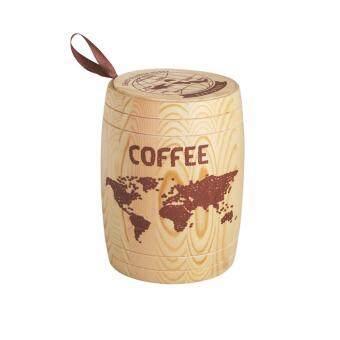 Coffee Container ถังไม้เก็บกาแฟ ขนาดกลาง