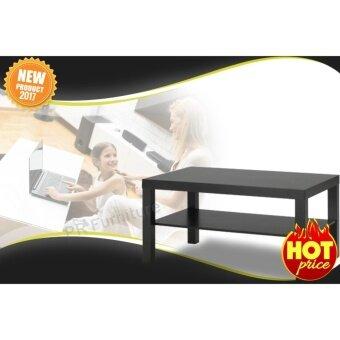 Coffee table โต๊ะ โต๊ะกลาง โต๊ะหน้าโซฟา วางหน้าโซฟา โต๊ะรับแขก โต๊ะกาแฟ รุ่น LACK (สีดำ) ขนาด90x55x45ซม.