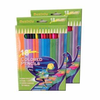 สนใจซื้อ Colored Pencils ดินสอสีไม้ 18สี (2กล่อง)