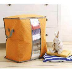 ตู้เสื้อผ้า เอนกประสงค์ ถุงเก็บเสื้อผ้า กระเป๋าเก็บผ้า กระเป๋าเก็บผ้านวม ผ้าห่ม เสื้อผ้า สีส้ม Comfortable Storage Bag for Clothing And Quilt (ORANGE)