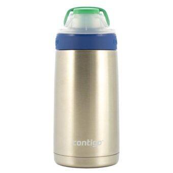 Contigo Kids Gizmo Sip Stainless Aquaกระติกน้ำเด็กสแตนเลสเก็บรักษาอุณหภูมิ 414 ml. (สีน้ำเงิน/เขียว)