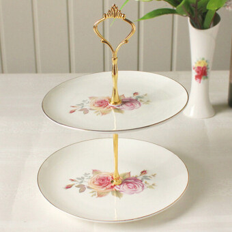 Crown Cake Cupcake Plate Stand Handle Party Wedding Dessert Fruit2Gold