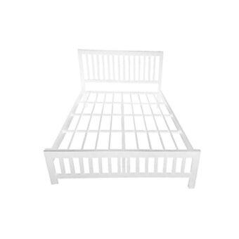 DAXTON เตียงเหล็กกล่อง เหล็กหนาพิเศษ ขนาด 5 ฟุต รุ่น Lofts 5 (White)(ส่งกรุงเทพฯและปริมณฑลเท่านั้น)