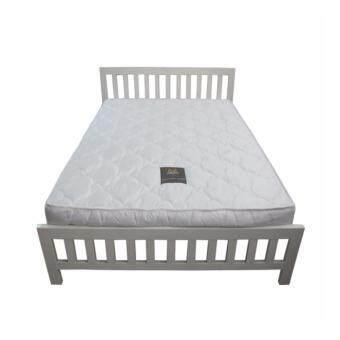 DAXTON เตียงเหล็กกล่องพร้อมที่นอนสปริง รุ่น Immroterlle Privee ขนาด 5 ฟุต (สีขาว)(ส่งกรุงเทพฯและปริมณฑลเท่านั้น)