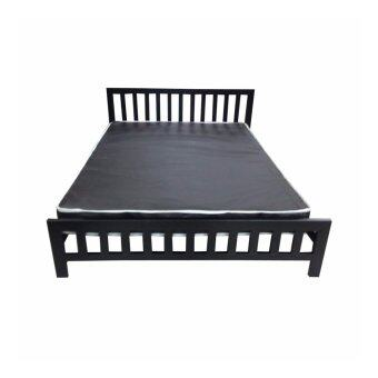 DAXTON Lofts เตียงเหล็กกล่องพร้อมที่นอน PVC ขนาด 6 ฟุตหนา 8 นิ้ว รุ่น Lofts 6(สีดำ) (ส่งกรุงเทพฯและปริมณฑลเท่านั้น)