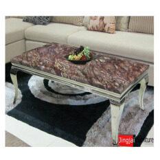 DAXTON โต๊ะกลางโครงสแตนเลสหน้าหิน รุ่น SABINA
