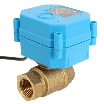 "Harga DC12V Motorized Ball Valve, Electrical Ball Valve DN20 G3/4"" - intl"