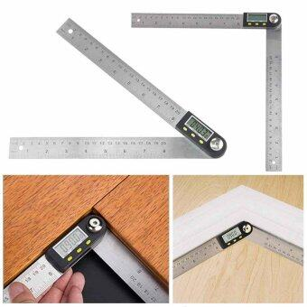 Digital 2 in 1 Angle Finder Guage Meter Ruler Protractor Goniometer 200mm 360° - intl