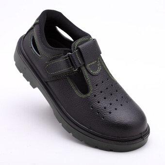 Ding ของแข็งรองเท้านิรภัยระงับกลิ่นกายรองเท้าแตะฤดูร้อนระบายอากาศ