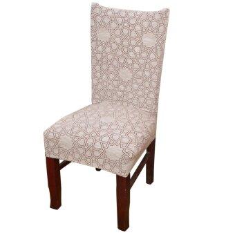 เปรียบเทียบราคา Dining Chair Slipcovers Removable Universal Stretch Chair Protective Covers for Dining Room Hotel Banquet Ceremony - intl