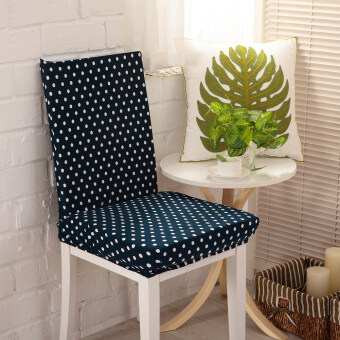 Dining Room Chair Covers AntiFouling Chair Cap for Hotel Banquet(Blue) - intl