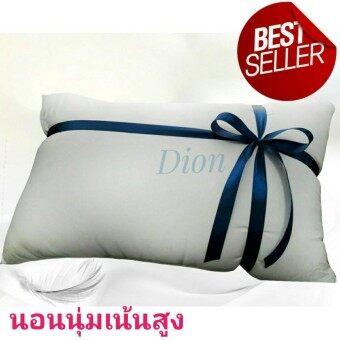 หมอนขนห่านเทียม สำหรับคนชอบนอนนุ่มเน้นสูง Extra Microfiber Pillowฟรีกระเป๋าเก็บเครื่องนอน หมอนขนห่านเทียมคุณภาพโรงแรม กันไรฝุ่น คืนตัวดี ระบายอากาศเยี่ยม
