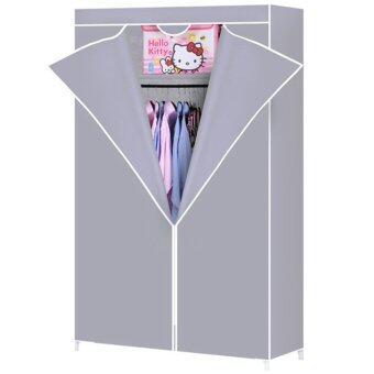 Dmall Multifunctional Non-woven Wardrobe โดยต้นไม่ทอ - Grey